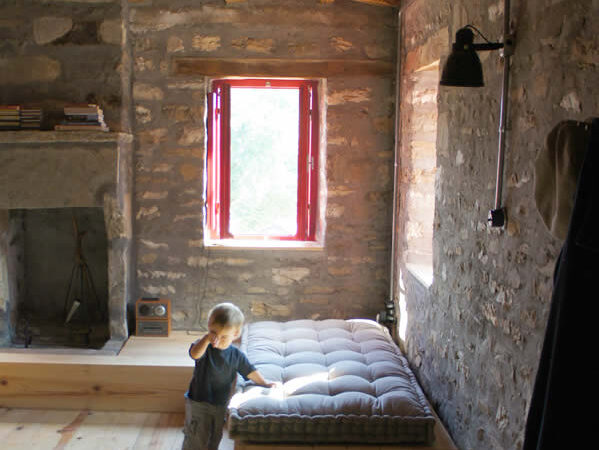 living room | traditional stone-made house in Zagori, Epirus