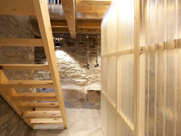 staircase to the upper level | traditional stone-made house in Zagori, Epirus